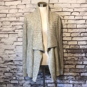 Loft Grey Open Front Cardigan